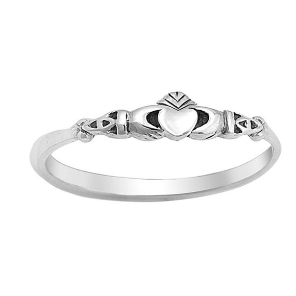Silver Claddagh Ring Sterling Silver 925 Best Deal Plain Jewelry Size 9